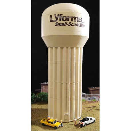 Water Tower w/Fluted Column