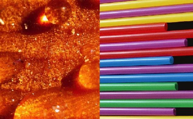 Close-up photos of 3d printing resin and filament