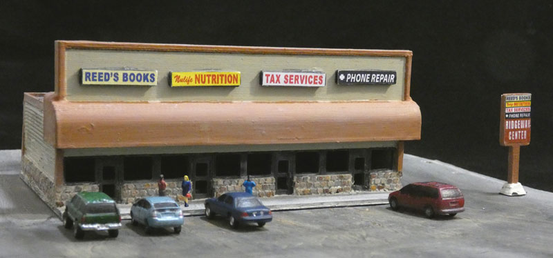Photo of the 2nd Lyforms Small-Scale strip mall kit