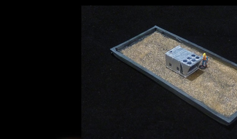 N Scale Roof Top 20 ton HVAC unit