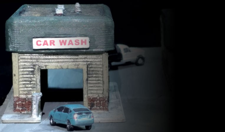 Flat Roof Car Wash