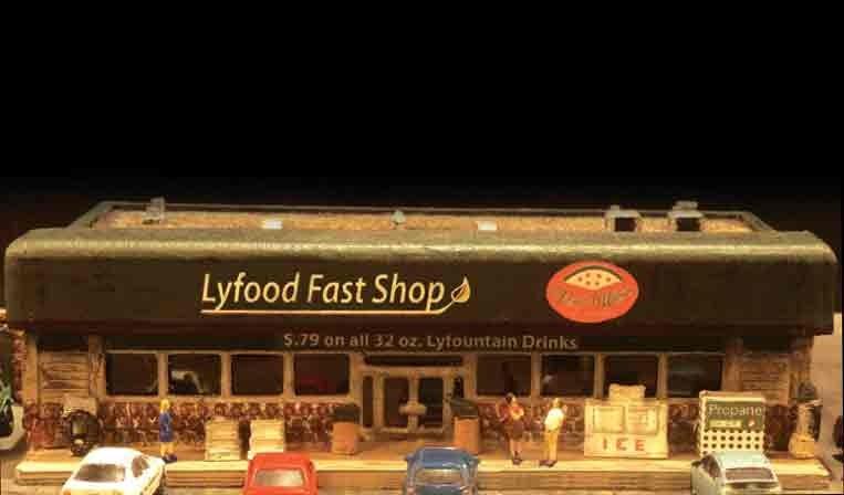Modern-era Flat Roofed Convenience Store